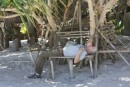 David Rests During Another Exhausting Day In Paradise!