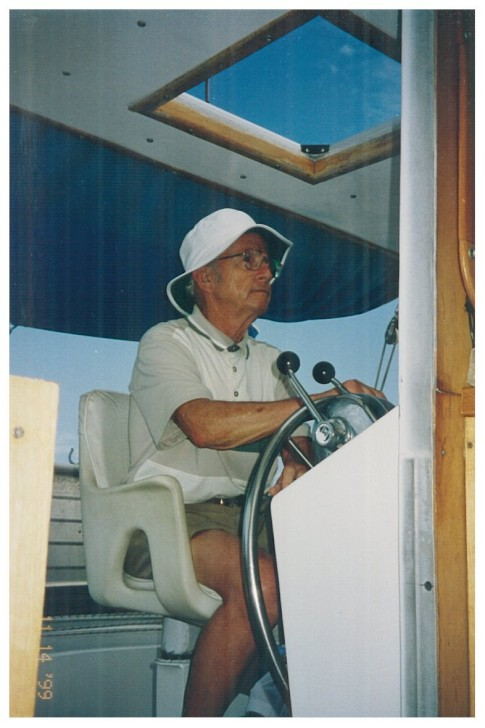 Earle White at the helm of Charmar