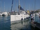 A rare picture, Kalliope coming into the dock, picture taken by the crew Windancer!