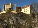 Another castle nearby- Schloss Hohenschwangau.  King Maximimillian