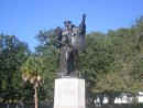 Monument to General Montriere who saved Charleston in the Civil War