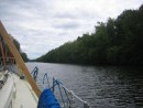 Entering the Mohawk River