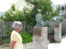 Sue in the Sculpture Garden of Heros at GTC
