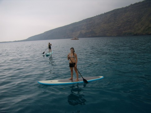Abbey on paddle board Hawaii
