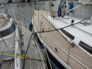 Guapa (left) - Odin (right) had new cork deck fitted last year