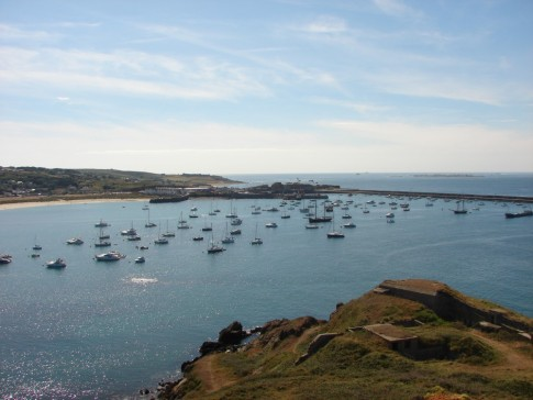 Braye harbour in the sun