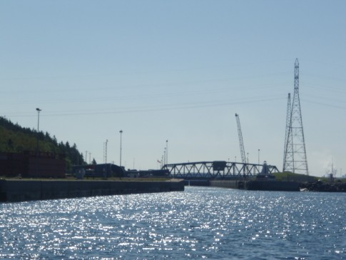 Canso Lock approach