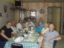 Dock 2 Breakfast gathering of crew from Pogo,La Contessa VII, Eos,Miramichi