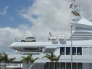 Land transportation for a true mega yacht