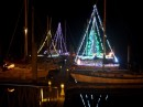 Our dock Christmas parade boats