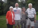 Sis Di, nephew Randy, his girl Sue and Bill