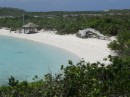 Beach and sculpture at Exuma Land and Sea Park Hqtrs