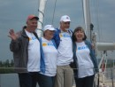 Crew for the Great Lakes/St Lawrence Seaway passage - Rich Pogue, Sylvia, Bill, Marba Pogue
