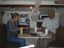 Shelburne - Bill and Karin (Nemea) fixing PC