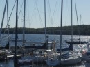 Shelburne Bill and Eos and others from the Yacht Club deck