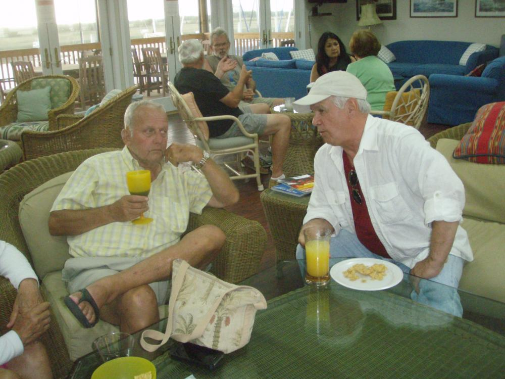 Gregg Hoffenkamp(right) learning about the cruising life