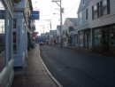 Provincetown MA main street early morning