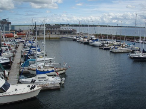 Summerside PEI marina and Silver Fox Curling and Yachting Club
