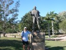 Statue of Captain James Cook at the town called after him: Statue of Captain James Cook at the town called after him