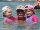 Grandad, Issy, Mima in West coast of Phuket: Swimming with Issy and Mina