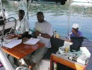 Custom Officers visit yacht in Savusavu, Figi: Custom Officers visit yacht in Savusavu, Figi