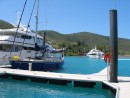 Mr Bean at Haymen Island Marina and Resort, whilst its crew have a luxurious 3 day holiday at the five star resort.: Mr Bean in Haymen Marina, whilst its crew have a 3 day holiday at the resort.