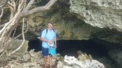 Pool Cave: Cave with pool, Gr Guana Cay near Oven Rock