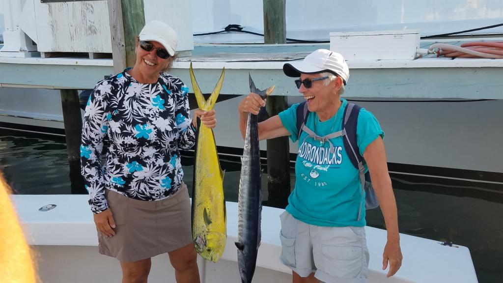 Mahi, Wahoo: Julie Gail with catch of the day